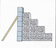 стенка из декоративных блоков