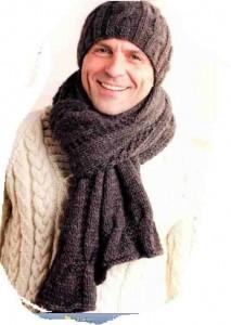шарф и шапка для мужчин